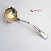 Bright Cut Engraved Sauce Ladle Sterling Silver 1890
