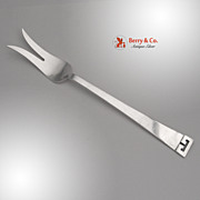 Chinese Key Buffet Fork Arts and Crafts Allan Adler Sterling Silver