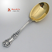 Tiffany and Co English King Serving Spoon Sterling Silver 1885