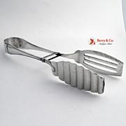 Buccellati Milano Asparagus Tongs 800 Silver