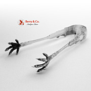 Alhambra Ice Tongs Sterling Silver Whiting 1880
