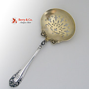 Rose Pea Spoon Wallace Sterling Silver 1898 Mono B