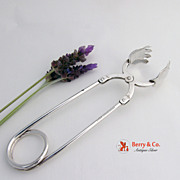 Ice Tongs Spring Loaded Sterling Silver Blackinton 1940