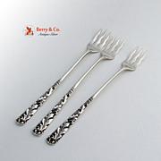 Gorham3 Cocktail Forks Sterling Silver Pattern 31