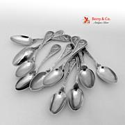 Bird Set of 12 Demitasse Spoons Sterling Silver Wendt 1865