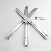 Set of Three Dinner Knives Silverplated