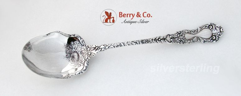 Imperial Chrysanthemum Stuffing Spoon w/button 1894 Sterling Silver