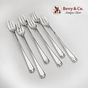 SALE PENDING Etruscan Set of 6 Cocktail Forks Sterling Silver Gorham Silversmiths 1913