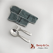 Tiffany and Co Cordis Baby Flatware Set Sterling Silver 1958