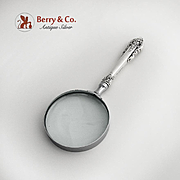 Grande Baroque Magnifying Glass Sterling Silver Wallace