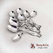 Vintage Flatware 6 Gumbo Soup Spoons 2 Table Spoons Teaspoon Silverplate Rogers 1904