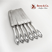 Old Colony Set of 6 Dinner Knives Rogers Silverplate 1911