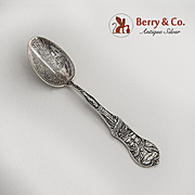 Garden of the Gods Souvenir Spoon Sterling Silver 1900 Summit of Pikes Peak