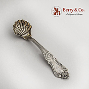 Prince Albert Master Salt Spoon Coin Silver 1870