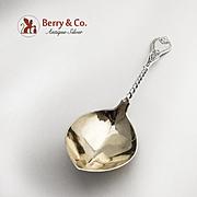 Aesthetic Serving Spoon Coin Silver Albert Coles Twist Handle Engraved Handle 1870