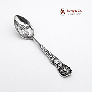 Texas Souvenir Demitasse Spoon Courthouse Houston Sterling Silver Watson 1900