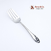 Lily of the Valley Cold Meat Fork Sterling Silver Gorham 1950
