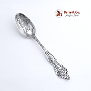 Chicago Souvenir Spoon Post Office Chicago Bowl Wallace Sterling Silver 1900