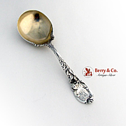 La Parisienne Serving Spoon Decorated Shoulders Sterling Silver Reed and Barton 1902