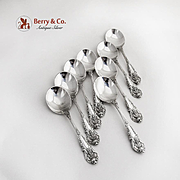 Sir Christopher 8 Round Bowl Soup Spoons Sterling Silver Wallace 1936