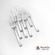 Trianon salad Forks Set of 8 Sterling Silver International 1921