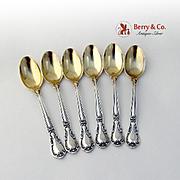 Chantilly Set of 6 Demitasse Spoons Sterling Silver Gorham Silversmiths Old Mark