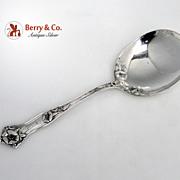 Morning Glory Alvin Salad Serving Spoon Sterling Silver 1909 Monogram R