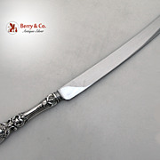 Francis I Bread Knife Reed & Barton Sterling Silver Stainless