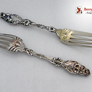 Salad Forks 2 Lily Whiting Patent 1902 Sterling Silver No Monogram