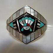 Zuni inlay bracelet by Dilbert and Carol Seciwa