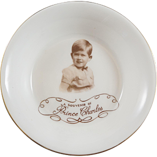 Paragon Bone China Bowl With MARCUS ADAMS Portrait Of Prince Charles Taken About 1950
