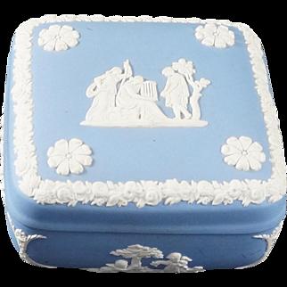WEDGWOOD Pale Blue Jasperware Square Bon Bon