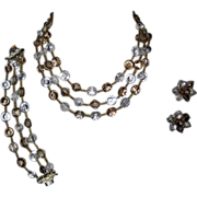 Vendome Nail Head Crystal Necklace, Bracelet & Earrings