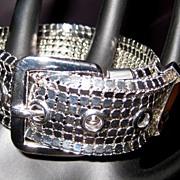 Mesh Buckle Bracelet, Vintage Shiny