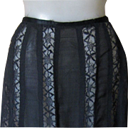 Victorian Black Lace Panel Skirt, Minty