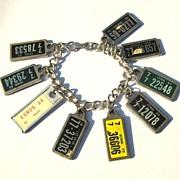Vintage Key Ring License Plate Bracelet - Iowa County 77