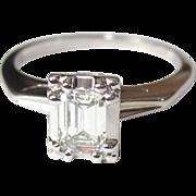 Diamond Engagement Ring, 14K, Emerald Cut, 1/2 Carat