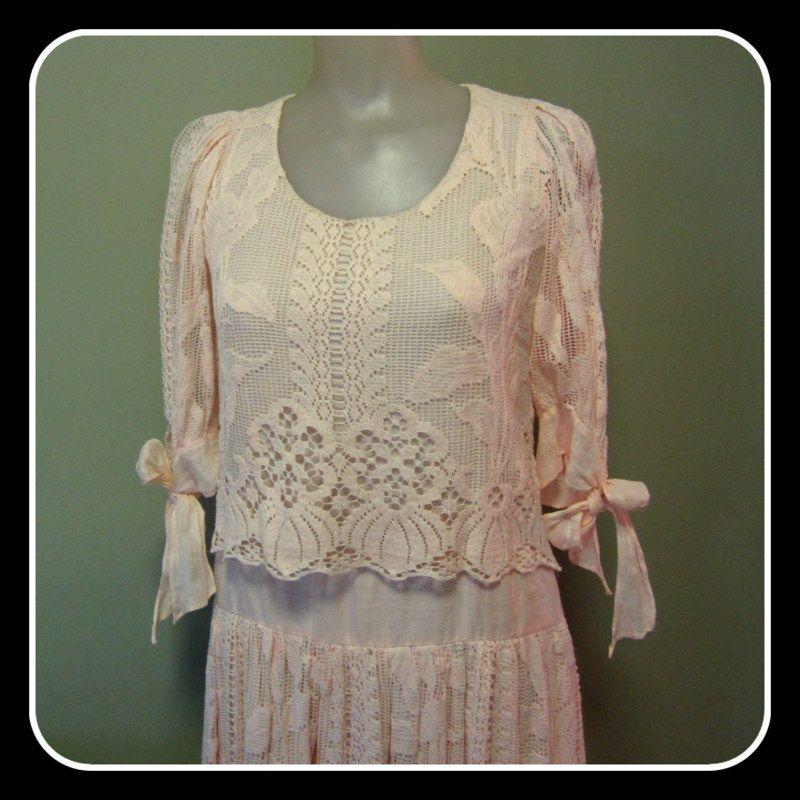 Vintage Lace Dress, Edwardian Revival