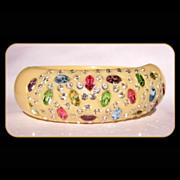 Weiss Rhinestone Clamper Bracelet, Vintage, Signed, Deco