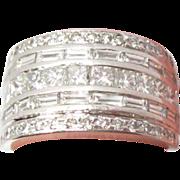 Platinum Diamond Ring / Band 2.51cts