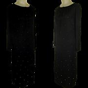 Vintage Rhinestone Cocktail Dress Meets Polyester Peasant