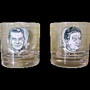 60's Lambeau Lombardi Glasses, Green Bay Packers