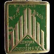 Chicago Worlds Fair Compact, 1933 Art Deco