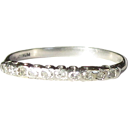 Platinum Diamond Ring , CD Peacock Antique Band