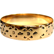 Victorian Ring, Cigar Band, 10K Gold