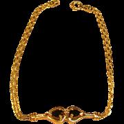 Vintage Dainty & Beautiful Sapphire Bracelet in 10K Yellow Gold