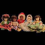 Adorable Vintage Madame Alexander International Dolls