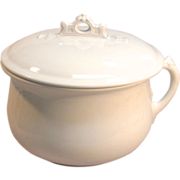 Antique Royal Ironstone China Johnson Bros. England Chamber Pot Circa 1888-1900.