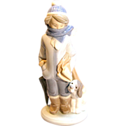 "Vintage ""Winter"" Figurine By Lladró Circa 1983"
