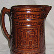 Antique Native American Indian Stoneware Milk Pitcher